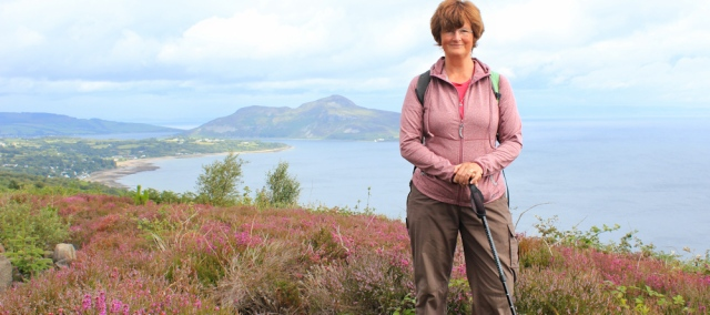 19 Ruth Livingston hiking the Arran Coastal Way