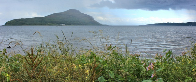 20 Holy Island and Lamlash Bay, Ruth walking the coast of Arran, Scotland