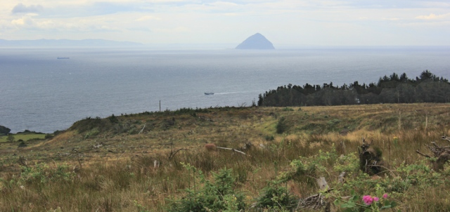 23 Aisla Craig, Ruth Livingstone walking the Arran Coastal Way