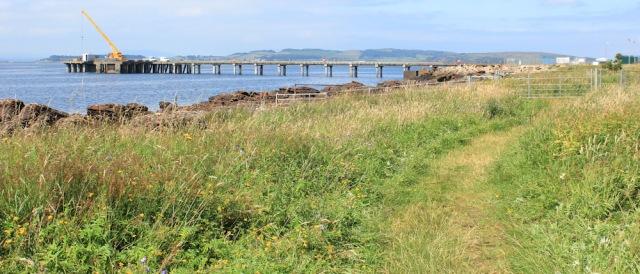 23 Blue Stones Pier, Ruth hiking the Ayrshire Coastal Path, Scotland