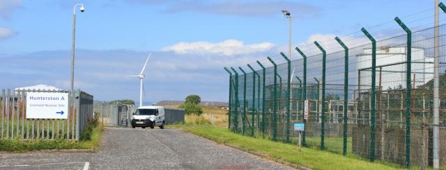 24 Hunterston A, nuclear site, Ruth hiking the Ayrshire Coastal Path, Scotland