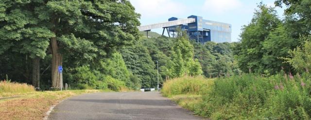 31 quarry conveyer, Ruth hiking the Ayrshire Coastal Path, Scotland