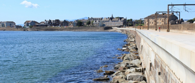 32 approach to Saltcoats, Ruth's coastal walk, Scotland