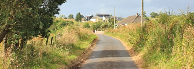 32 back road to Meigle, Ruth hiking the Ayrshire Coastal Path, Scotland