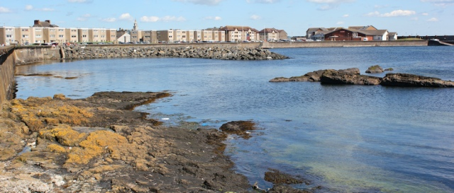 34 Saltcoats Harbour, Ruth Livingstone, walking the Scottish Coast