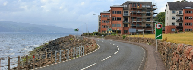 38 new buildings, Skelmorlie, Ruth's coastal walk, Scotland