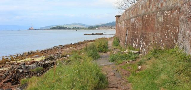 41 Fairlie coastal walk, Ruth hiking the Ayrshire Coastal Path, Scotland