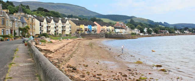 43 Fairlie seaside, Ruth hiking the Ayrshire Coastal Path, Scotland