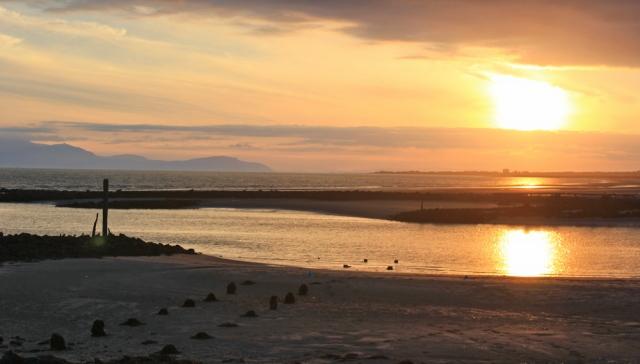 44 sunset at Irvine, Ruth Livingstone in Scotland