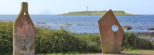 01 Pladda from Kildonan, Ruth's coastal walk around the Isle of Arran