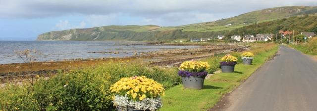 02 road towards Bennan Head, Ruth's coastal walk, Arran, Scotland