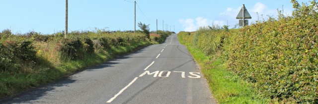 06 road walking, Ruth Livingstone on the Isle of Arran