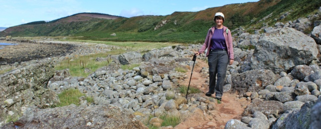 10 Ruth Livingstone walking the Arran Coastal Way, near Blackwaterfoot