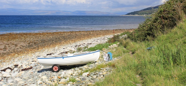 12 boat, Whitefarland Point, Ruth's coastal walk, Arran