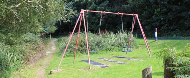 13 children's playground, Whitefarland, Ruth Livingstone hiking around Arran