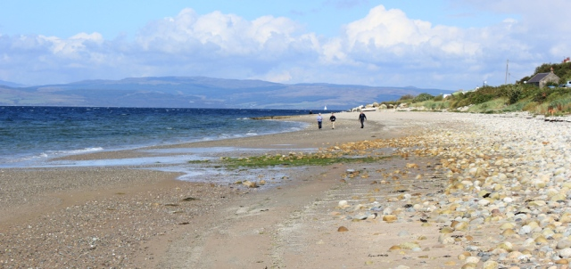 15 beach walking to Pirnmill, Ruth's coastal walk, Arran