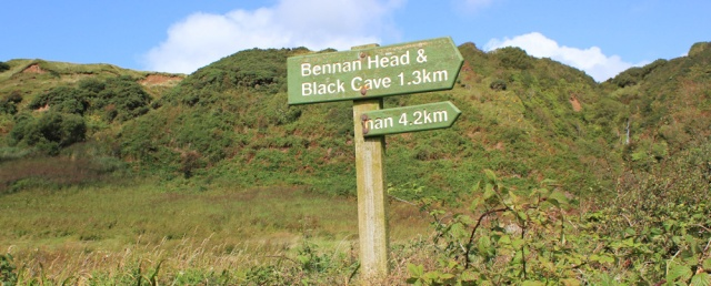 17 sign to Bennan Head, Ruth's coastal walk around Arran