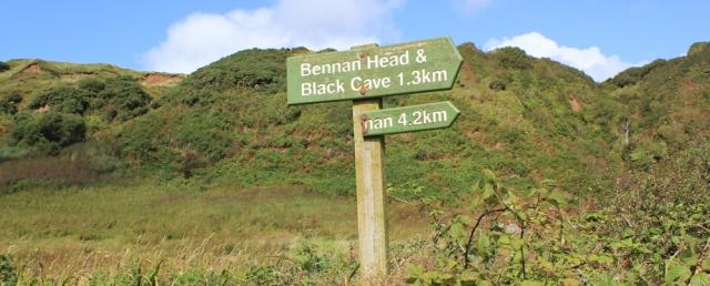 17 sign to Bennan Head, Ruth's coastal walk around Arran