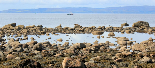 18 rocks and Mull of Kintyre, Ruth's coastal walk, Arran, Scotland