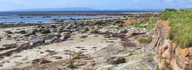 19 shore and view of Mull of Kintyre, Ruth's coastal walk, Arran