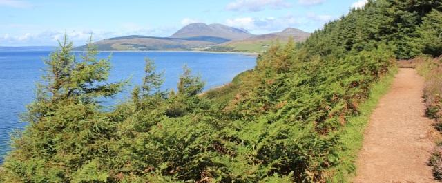 21 Path up from shore, Ruth's coastal walk, Isle of Arran, Scotland