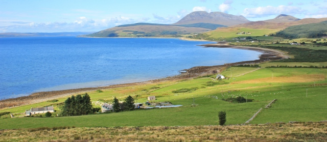 22 view to Machrie, Ruth's coastal walk, Isle of Arran