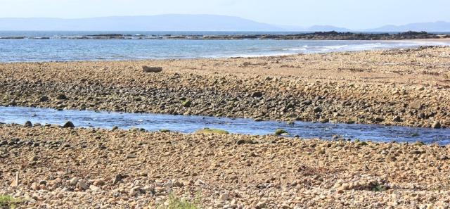 26 Torrylinn Water, Ruth hiking to Lagg, Arran Coastal Way
