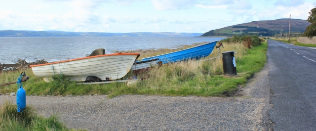 28 boats beside road, Ruth Livingston