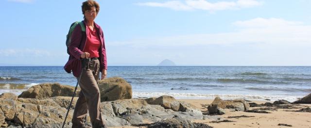 28 self-portrait, Ruth Livingstone walking around Arran