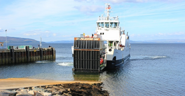 30 Lochranza ferry arrives, Ruth Livingstone on Arran