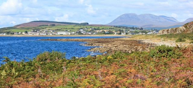 32 Blackwaterfoot, Ruth hiking the Arran Coastal Way, Scotland