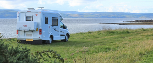 33 camper van, Arran, Ruth's coastal walk around Scotland