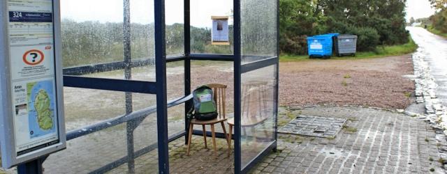 02 Bus stop at Sannox. Ruth's coastal walk, Arran