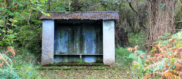 07 shelter on the way to Corrie. Ruth's coastal walk, Isle of Arran