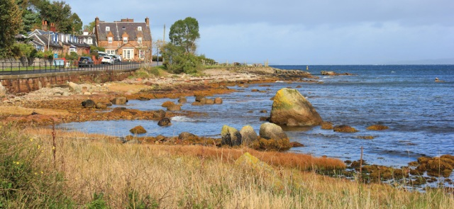 11 Corrie Hotel, Ruth walking Arran's coast, Scotland