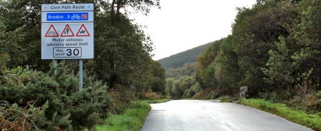 16 core path route, Ruth hiking the Arran Coastal Way