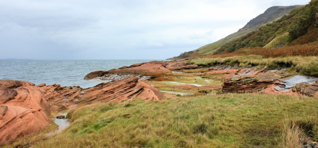 22 Red sandstone rock, Ruth's coastal walk around the north coast of Arran