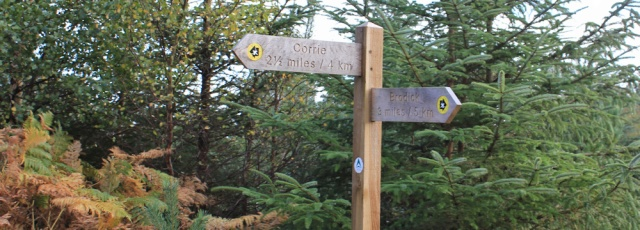 23 signpost to Brodick, Ruth's coastal walk, Arran