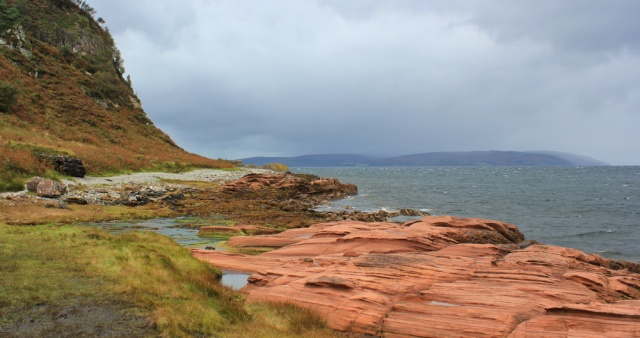 24 stormclouds over Mull of Kintyre, Ruth hiking on Arran