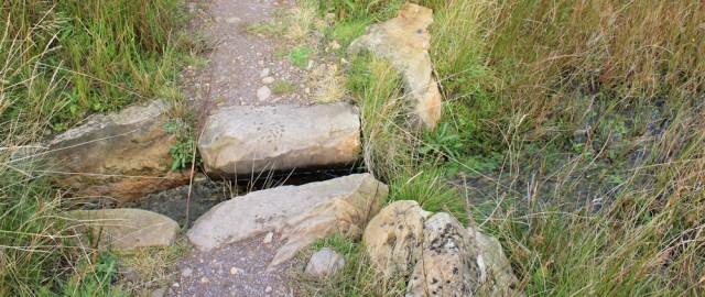 28 stream crossing, Ruth Livingstone on Arran