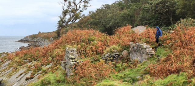 29 ruins and walkers, Ruth Livingstone in Scotland