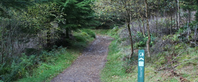 30 path up to Goat Fell, Ruth hiking on Arran