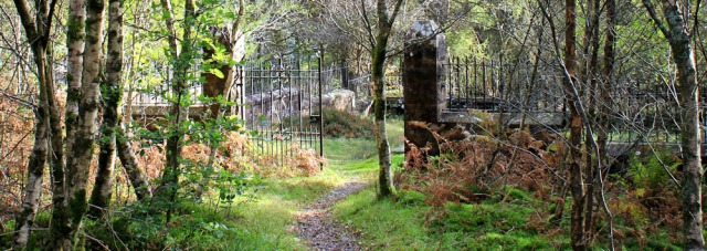 32 Gates to Hamilton Cemetary, Ruth's coastal walk, Arran