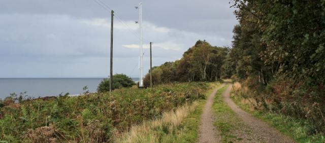 39 beacons, Ruth hiking the coast of Arran