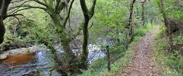 44 path down river bank, north Sannox