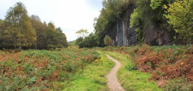 46 blue cliffs, Ruth hiking to Sannox, Arran