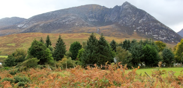 48 Devil's Punch Bowl, Ruth hiking to Sannox, Isle of Arran
