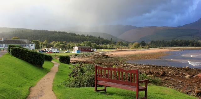 52 Rain on Brodick, Arran, Ruth Livingstone