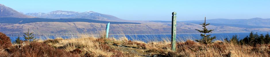 Hiking near Carradale, Kintyre, Ruth Livingstone