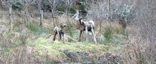 07 deer statues, Ruth Livingstone hiking in Scotland